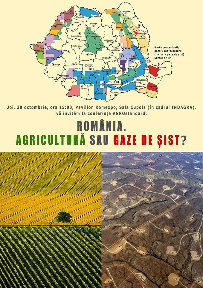 VIDEO. CONFERINTELE AGROstandard, editia a V-a. Agricultura sau gaze de sist?!, 30 octombrie, INDAGRA 2014