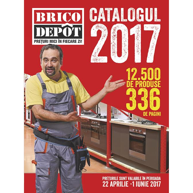 A doua editie a Catalogului Brico Dépôt. 12.500 de produse pentru gradina, materiale de constructii, instalatii, renovare si amenajare