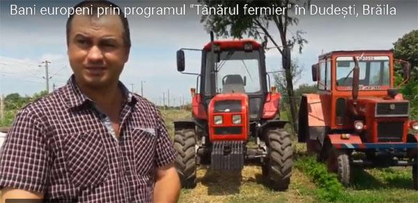 Profesor de matematica, devenit fermier cu ajutorul fondurilor europene. Munceste singur 60 ha la Dudesti (Braila)