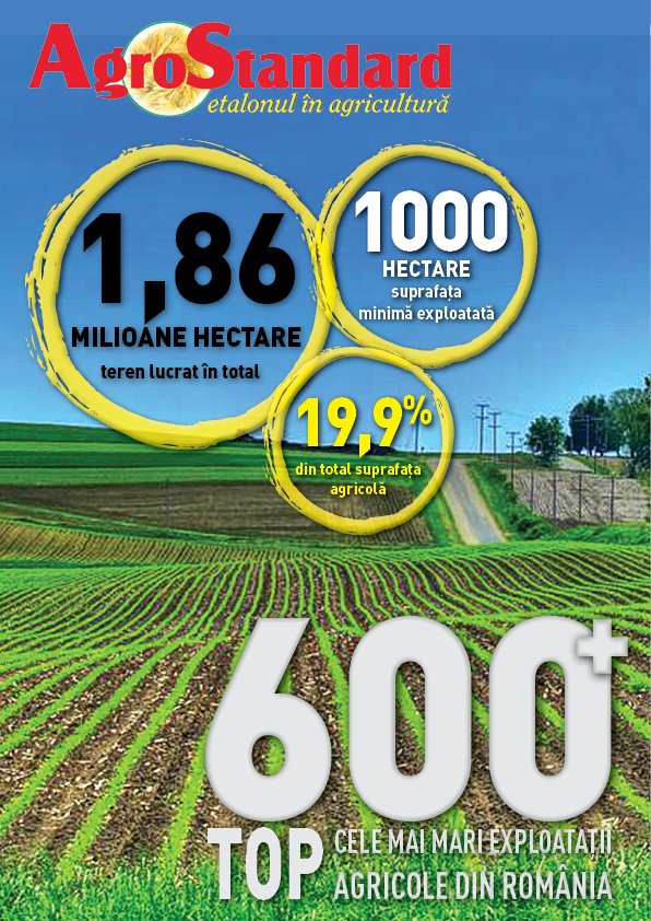 EXCLUSIV AGROSTANDARD – TOP 600 AGRICULTURAL FARMS IN ROMANIA