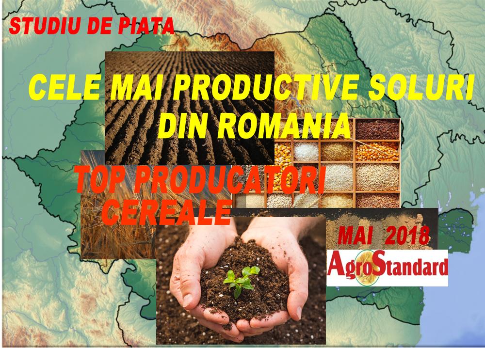 """EXCLUSIV: Studiu de piata """"Cele mai productive soluri din Romania. Top producatori Cereale"""""""