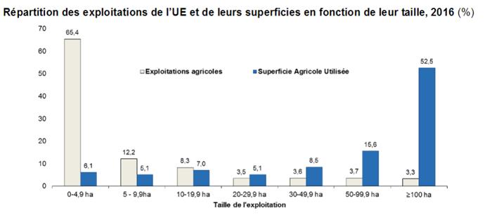65% din fermele din UE au o suprafata de sub 5 ha, fata de 92% in Romania