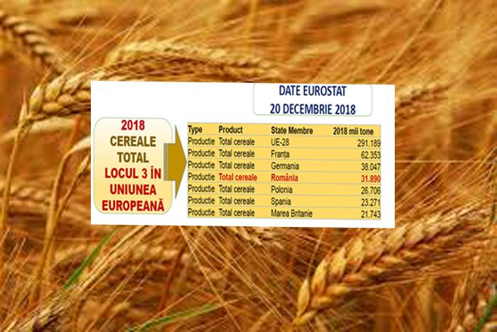 Top producatori de cereale din UE, in 2018. Romania, pe locul trei