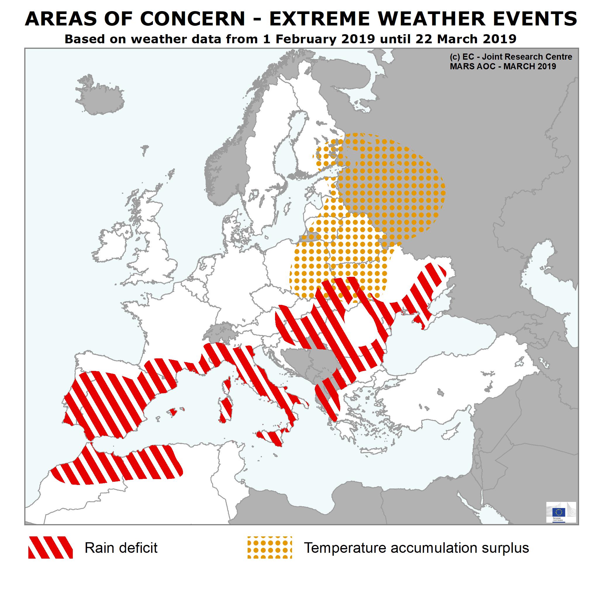 Buletin CE: Lipsa ploilor se face simtita in sudul Europei