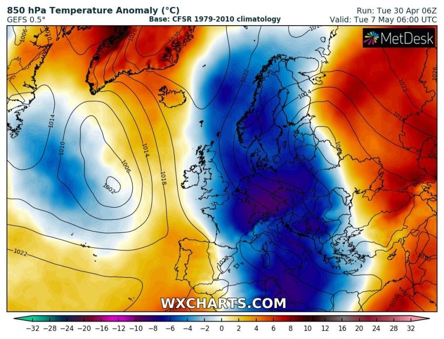 Temperaturi apropiate de pragul de inghet in Europa, in week-end. Vestul Romaniei, cel mai afectat