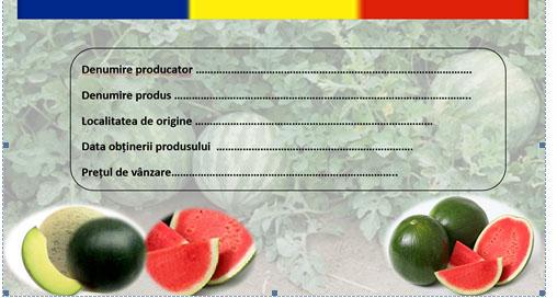 Etichete pentru pepenii romanesti din piete
