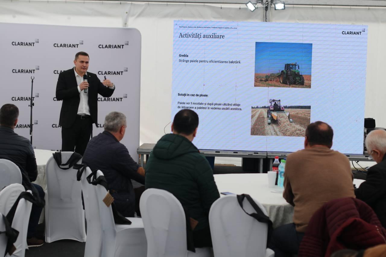 Clariant a incheiat 200 contracte de parteneriat cu fermierii din Oltenia. 20.000 de tone de paie colectate in 2019!