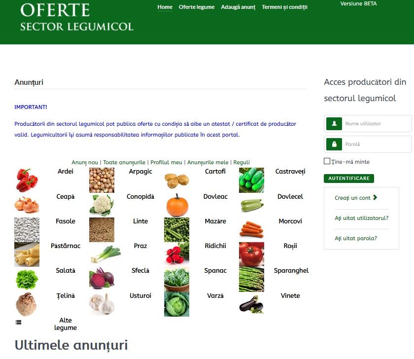 Platforma online pentru micii producatori de legume!