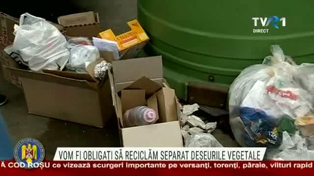 Romanii, obligati sa recicleze separat deseurile vegetale din 2021