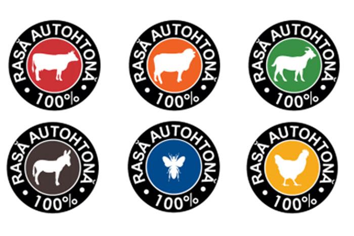 """""""100% rasa autohtona"""", logotip pentru produsele de origine animala autohtone!"""