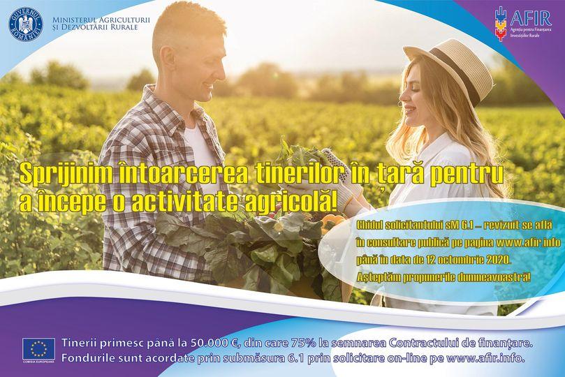 """AFIR a publicat versiunea CONSULTATIVA a Ghidului solicitantului pentru sM 6.1 """"Sprijin pentru instalarea tinerilor fermieri"""" din diaspora!"""
