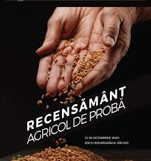Recensamantul Agricol de Proba (12-23 octombrie)