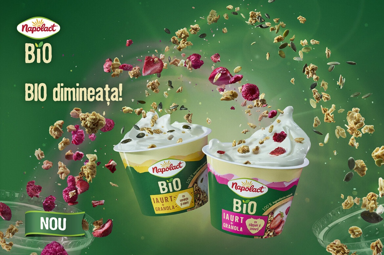 O noua gama de produse Napolact: iaurt Napolact Bio cu granola