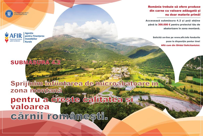 Bani pentru infiintarea de abatoare in zona montana! Sesiune prelungita pana la 31 martie 2021