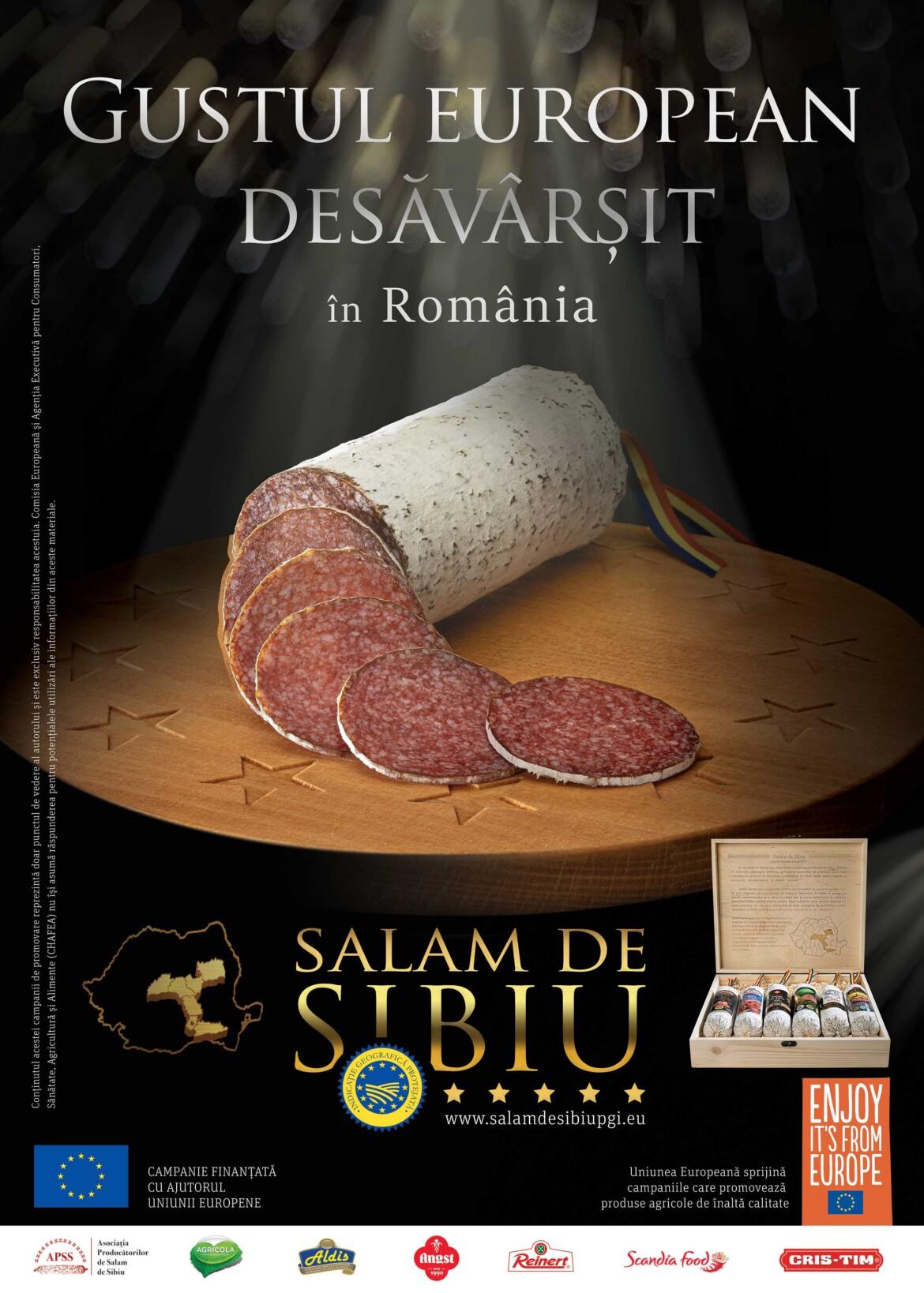 Premiera! Prima campanie integrata din Romania pentru un produs cu IGP – Salam de Sibiu