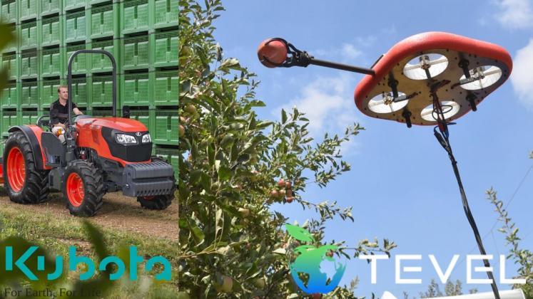 Roboti zburatori pentru culegerea fructelor de la Kubota