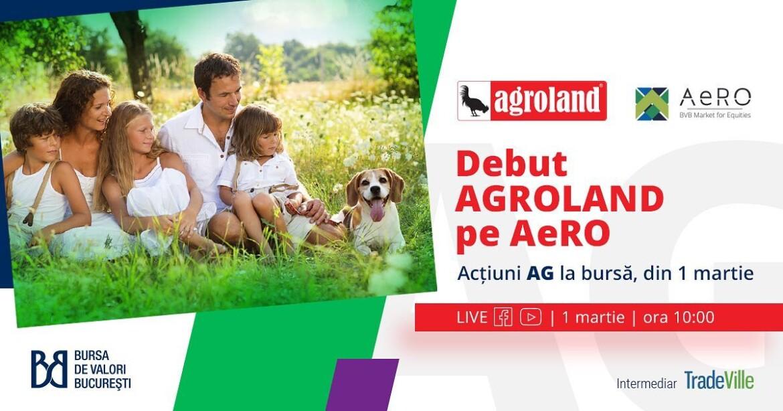Agroland s-a listat la Bursa de Valori Bucuresti