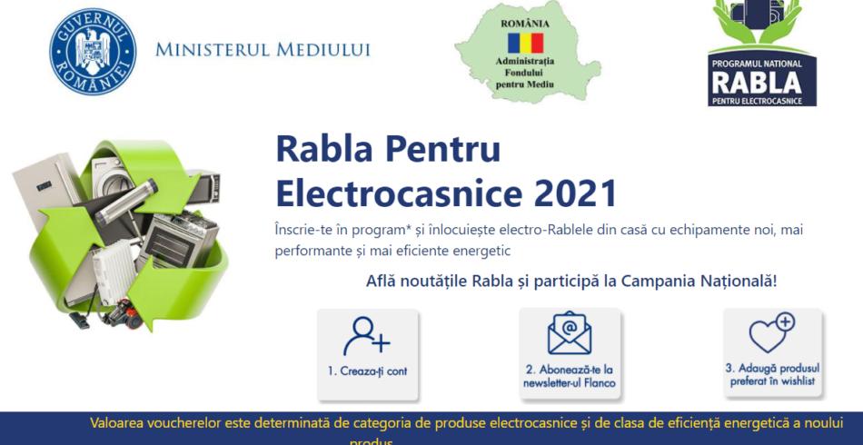 """Programul """"Rabla pentru electrocasnice"""" 2021. Cati bani puteti primi"""