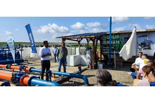 Sistem de irigatii inovator pe 5.000 ha.  Proiectul apartine Grupului Serban, fiind realizat de Netafim si Reinke