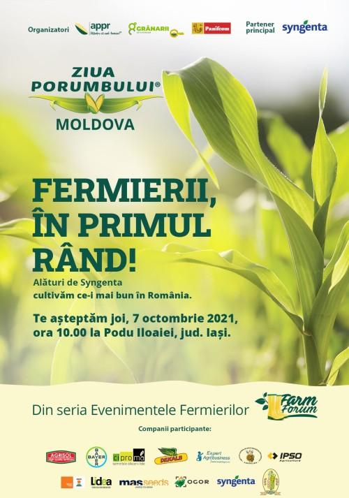 """""""ZIUA PORUMBULUI MOLDOVA 2021"""", 7 octombrie, Podu Iloaiei"""